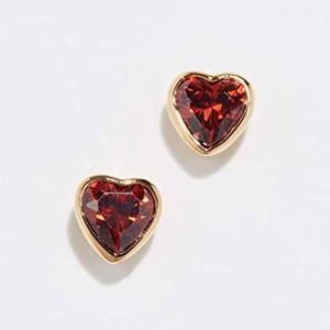 KATE SPADE Romantic Rocks Heart Stud Earrings